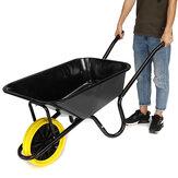 330Lb 85L Black Frame Trolley Cart Einzelrad Gartenwagen Utility Schubkarre Geschenke Für Gärtner oder Hinterhof-Enthusiasten