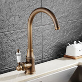 KCASA KC-9098 Retro Antique Brass Kitchen Sink Faucet Single Handle Rotation Spout Deck Torneira misturadora de água fria e quente