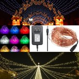 20M IP67 200 LED Drut miedziany Fairy String Light na Xmas Party Decor z adapterem 12V 2A