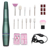 Electric Nail Drill Machine Pen USB Manicure Pedicure File Polisher Tools Kit