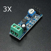 3Pcs LM386 Audio Amplifier Module 200 Times Input 10K Adjustable Resistance