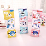 WAM PC-03 Milk Bottle Pencil Case PU Pen Storage Bag Pouch Office School Stationery Supplies