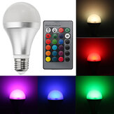 E27 12W RGBW Dimmable Smart Colorful Globe LED Lâmpada Controle Remoto AC85-265V