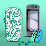 4 in 1 Protection Set Animal Crossing Carrying Case Screen Protector Joy-Con Silicone Cover Thumb Grip Caps for Nintendo Switch NS