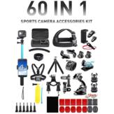 Acción 60 en 1 Cámara Combo de accesorios Caja Soporte de correa trípode para GoPro DJI Insta360 Cámaras al aire libre