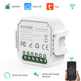 BlitzWolf® BW-SS6 WIFI Smart Curtain Module APP Remote Controller Timing Open/Close Work with Google Assistant Amazon Alexa