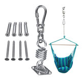 Stainless Steel Hammock Chair Hanging Kit  Ceiling Mount Spring Swivel Snap Hook Accessories