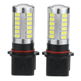 Pair P13W White 6000K 500LM 33LEDs Car Fog Lights Daytime Running Lights Bulbs Error Free