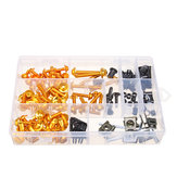 Blakc/Gold Full Fairing Bolt Kits 134PCS For Honda CBR600RR CBR900RR CBR1000RR CBR1100XX