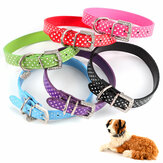 Obroża PU Leather Obroża Diamante Obroża Pet Bling Puppy Small Medium Large Spotty