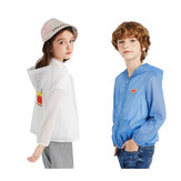 [FROM XIAOMI YOUPIN] Children's Sun Protection Zipper Jacket Boy and Girl Summer Sunscreen Breathable Hooded Coat Kid's Air Conditioning Shirt