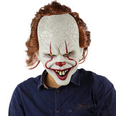 قناع مهرج مخيف Pennywise Cosplay Halloween Latex Creepy Joker Stephen Masks لوازم الحفلات للبالغين