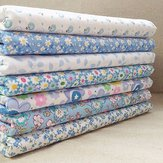 7 pçs / set tecido de algodão azul e branco artesanal diy pano de costura