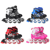 3 Size Adjustable Inline Skates with LED Flashing Wheels Safe&Durable Roller Skates for Adult&Kids Boys Girls Skating with Breathable Mesh Skates