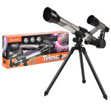 HD 20X 30X 40X Times Refractor Eyepiece Astronomical Telescope with Secondary Mirror and Tripod Science Experiment Toys for Children Gift