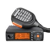 Zastone218RádioemDoisSentidos Dual Banda VHF 136-174 MHz UHF 400-470 MHz Transceptor de Rádio de Carro Móvel 25 W Mini Estação de Rádio CB