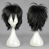 Perruque cosplay courte droite noire synthétique de cheveux de costume anime résistants hauts et de température