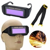 Solar Powered Auto Darkening Welding Mask Helmet Eyes Goggle To-vejs briller
