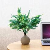 Simulação Persa Folha Relva Planta Decoração de parede Arbusto de folhagem de samambaia artificial realista Plantas Dentro e fora de casa Decorações de parede