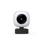 2KSupport HD Mise au point automatique de la webcam avec microphone Lampe de beauté à 90 ° Grand Angle Plug and Play pour ordinateur portable Étude en ligne Q9 Caméra Web