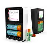 ISDT C4 8A écran tactile intelligent batterie Chargeur avec sortie USB pour 18650 26650 AA Batterie AAA