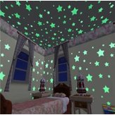 100Pcs/1Bag Wall Ceiling Glow Dark Stars Sticker Decal Kids Bedroom Decor