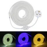 220V LED tira luzes lâmpada Corda 5050 SMD jardim cozinha deck IP65 luzes de natal à prova d'água