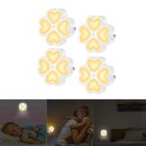 0.5 W Luz Sensor LED Noite Lâmpada de Parede Plug-in Para O Bebê Kid Quarto Casa AC100-240V