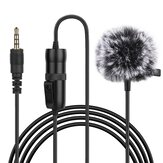 PULUZ PU427 6M 3.5mm Jack Microphone M1 Omnidirectional Condenser Microphone Recording Live Vlogging Video Lavalier Microphone