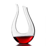 1200ml Lüks Kristal Cam U-şekilli Korna Şarap Dekantörü Şarap Dökücü Kırmızı Şarap Süspansiyon Havalandırıcı