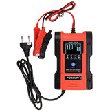 FOXSUR 3 IN 1 12V 24V Touch Screen LCD Pulse Repair Battery Charger Motorcycle Car Automatic Intelligent For Lithium Battery Lead-Acid Agm Gel Wet LiFePO4 Batteries