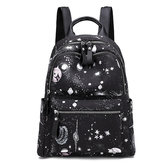 Women Oxford Large-capacity Starry Sky Pattern Backpack