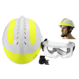 300 * 240mm Rescue Helmet Fire Fighter + Pelindung Kacamata Safety Protector Helmet
