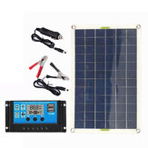 100W Solar Panel kit 12V battery Charger 10-100A LCD Controller For Caravan Van Boat