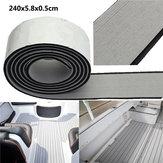 240x5,8x0,5 cm EVA Flooring Faux Imitation Teak grigio e nero Decking Flooring Pad