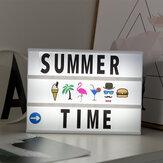 مصباح إبداعي LED مع 96 قطعة حرف رسالة بطاقات مجموعة DIY A4 ضوء صندوق صور الدعائم قلادة ديكور غرفة المنزل مصباح طاولة ليلي USB/البطارية بالطاقة رسال