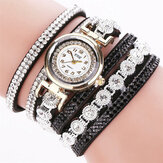 CCQ Fashion Luxury Rhinestone Women Quartz Bracelet Watch