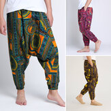 3 Colors Men's Casual Elastic Waist Pants Thai Fisherman Harem Trousers