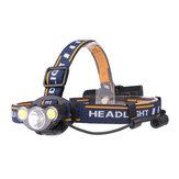 XANES2606-3550LMT6+2 * COB LED Wit Roodlicht Koplamp 7 Modi 2x18650 Batterij Super Bright