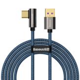 Baseus 66W USB إلى USB-C كابل PD3.0 القوة توصيل QC4.0 سريع شحن خط سلك نقل البيانات بطول 2 متر لـ Samsung Galaxy ملحوظة 20 لـ iPad Pro 2020 MacBook Air 2020 Mi 10 Huawei P40