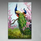 DIY Oil Painting Peacock DIY Painting By Numbers Handpainted Painting Living Room Home Office Wall Decor Artwork