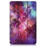 8インチHuawei MatePad T8タブレット用の3つ折り塗装Galaxy PUレザー折りたたみスタンドケース