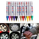12pcs Color Tire Permanent Paint Pen Tire Metal Marcador de tinta de marcação ao ar livre Trendy