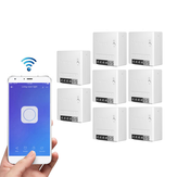 8pcs SONOFF MiniR2 Two Way Smart Switch 10A AC100-240V Works with Amazon Alexa Google Home Assistant Nest Supports DIY Mode Allows to Flash the Firmware