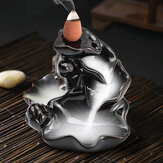 Backflow Incense Cone Burner Holder Керамический Lotus Stream Ароматный дымоход Backflow Home Censer Decor