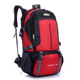 Homens 45L grande capacidade de caminhadas viagem mochila de nylon ocasional mochila de alpinismo