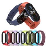 Bakeey Dwukolorowy silikonowy pasek zamienny z TPU Smart Watch Band do Xiaomi Mi Band 5