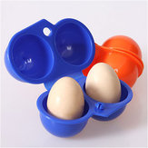 Honana churrasco Portable Egg Storage Box Container Camping piquenique ao ar livre 2 Egg Case Carrier Tray