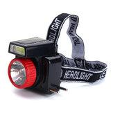 7LEDs COB Superheller Solar-LED-Scheinwerfer Energiesparende Stirnlampe für Sportcamping Angeln