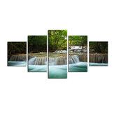 5 sztuk obraz z nadrukiem na płótnie nowoczesny wodospad rzeka las Home Decor obraz na ścianę dekoracja bezramowa do biura domowego